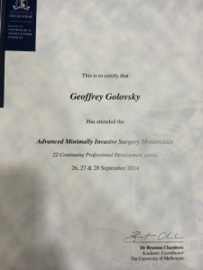 Attended By Dr. Geoff Golovsky1